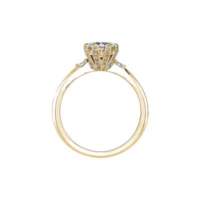 Tacori 2535RD65-Y Yellow Gold Round Engagement Ring side