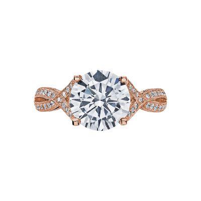 Tacori 2565MDRD75PK Ribbon Rose Gold Round Engagement Ring