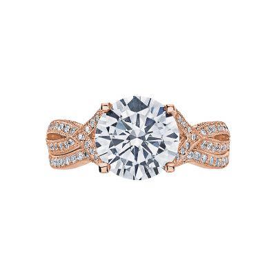 Tacori 2565MDRD75PK Rose Gold Round Twist Band Engagement Ring set
