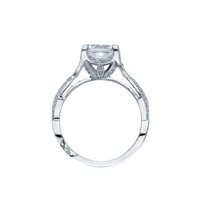Tacori 2565PR White Gold Princess Cut Engagement Ring side