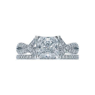 Tacori 2565PR White Gold Princess Cut Twist Shank Engagement Ring set