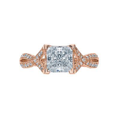 Tacori 2565PR65-PK Ribbon Rose Gold Princess Cut Engagement Ring