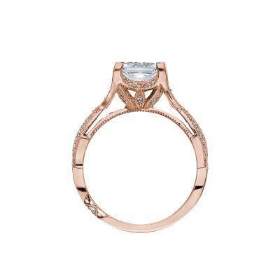 Tacori 2565PR65-PK Rose Gold Princess Cut Engagement Ring side