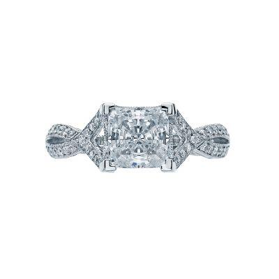 Tacori 2565PR65 Ribbon Platinum Princess Cut Engagement Ring
