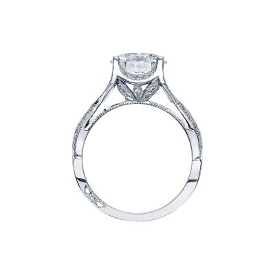Tacori 2565RD White Gold Round Engagement Ring side
