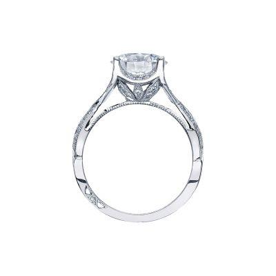 Tacori 2565RD9 Platinum Round Engagement Ring side
