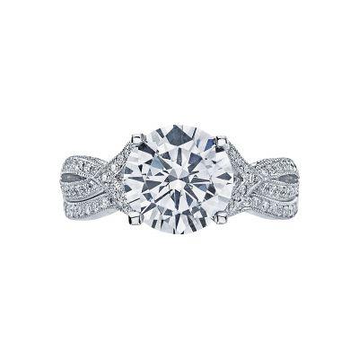 Tacori 2565RD9 Platinum Round Twist Band Engagement Ring set