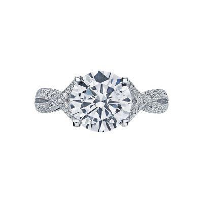 Tacori 2565RD9 Ribbon Platinum Round Engagement Ring