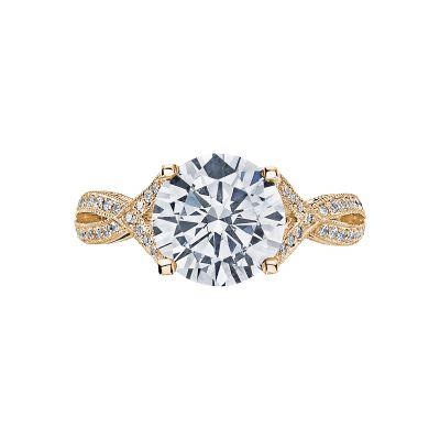 Tacori 2565RD9-Y Ribbon Yellow Gold Round Engagement Ring