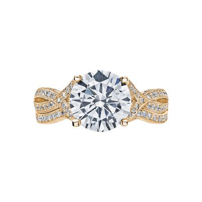 Tacori 2565RD9-Y Yellow Gold Round Twist Shank Engagement Ring set