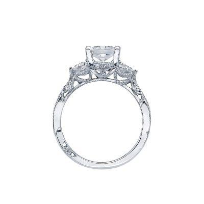 Tacori 2569PR White Gold Princess Cut Engagement Ring side
