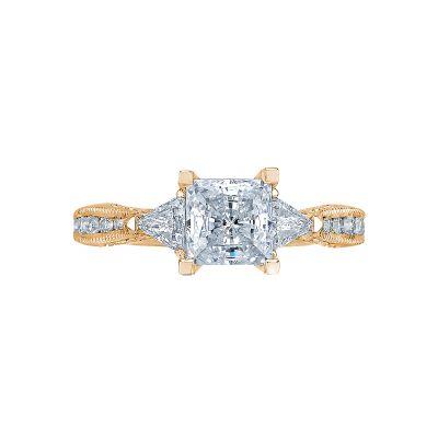 Tacori 2569PR6-Y Simply Tacori Yellow Gold Princess Cut Engagement Ring