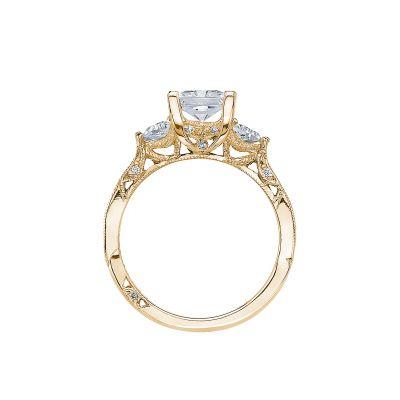 Tacori 2569PR6-Y Yellow Gold Princess Cut Engagement Ring side