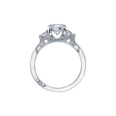 Tacori 2571RD White Gold Round Engagement Ring side