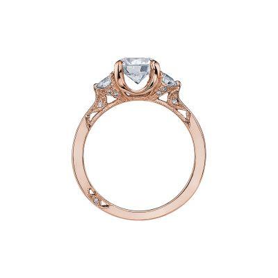 Tacori 2571RD7-PK Rose Gold Round Engagement Ring side