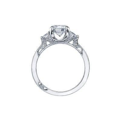 Tacori 2571RD7 Platinum Round Engagement Ring side