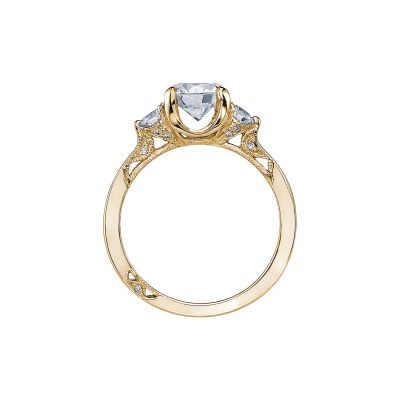 Tacori 2571RD7-Y Yellow Gold Round Engagement Ring side
