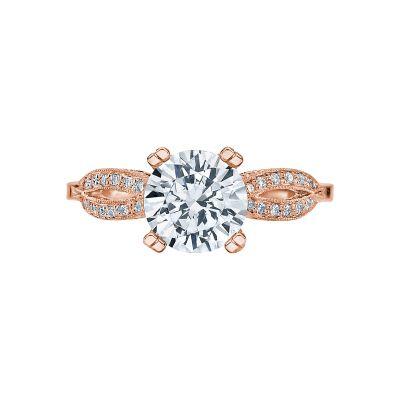 Tacori 2573MDRD75-PK Ribbon Rose Gold Round Engagement Ring