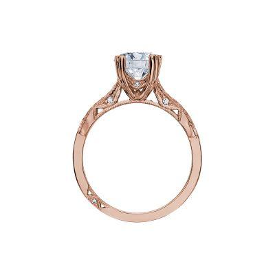 Tacori 2573MDRD75-PK Rose Gold Round Engagement Ring side