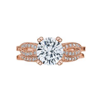 Tacori 2573MDRD75-PK Rose Gold Round Split Shank Engagement Ring set