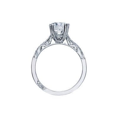 Tacori 2573MDRD75 Platinum Round Engagement Ring side