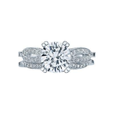 Tacori 2573MDRD75 Platinum Round Split Shank Engagement Ring set
