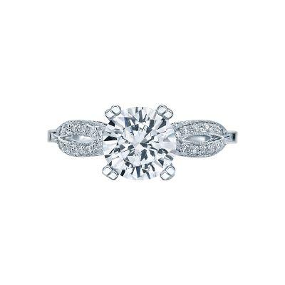 Tacori 2573MDRD75 Ribbon Platinum Round Engagement Ring