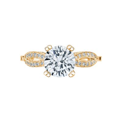 Tacori 2573MDRD75-Y Ribbon Yellow Gold Round Engagement Ring