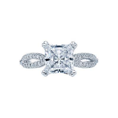 Tacori 2573PR Ribbon White Gold Princess Cut Engagement Ring
