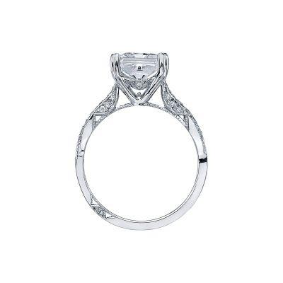 Tacori 2573PR White Gold Princess Cut Engagement Ring side