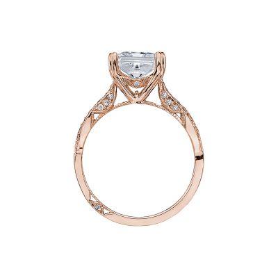 Tacori 2573PR7-PK Rose Gold Princess Cut Engagement Ring side