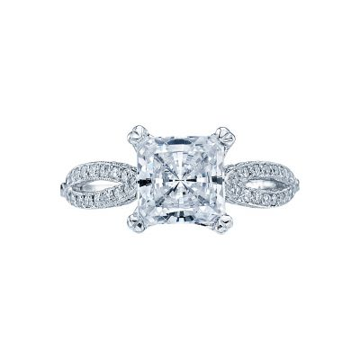 Tacori 2573PR7 Ribbon Platinum Princess Cut Engagement Ring