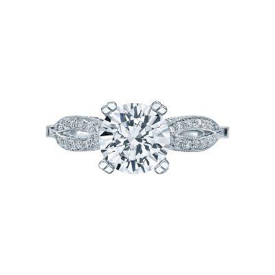 Tacori 2573RD Ribbon White Gold Round Engagement Ring