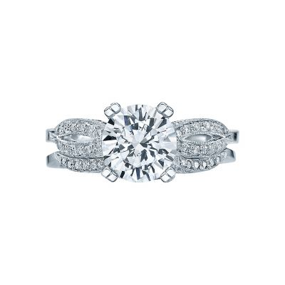 Tacori 2573RD White Gold Round Split Band Engagement Ring set