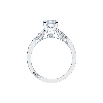 Tacori 2576PR White Gold Princess Cut Engagement Ring side