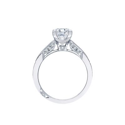 Tacori 2576RD White Gold Round Engagement Ring side