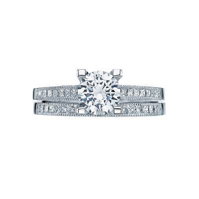 Tacori 2576RD White Gold Round Simple Engagement Ring set
