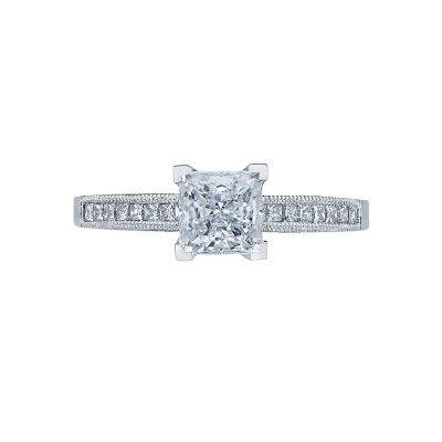 Tacori 2576SMPR55 Simply Tacori Platinum Princess Cut Engagement Ring
