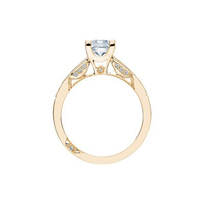 Tacori 2576SMPR55-Y Yellow Gold Princess Cut Engagement Ring side