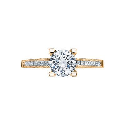 Tacori 2576SMRD65-Y Simply Tacori Yellow Gold Round Engagement Ring