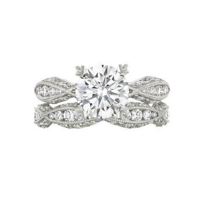 Tacori 2578RD White Gold Round Twist Shank Engagement Ring set