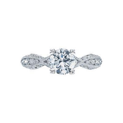 Tacori 2578RD6512 Classic Crescent Platinum Round Engagement Ring