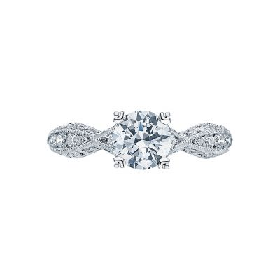Tacori 2578RD6512-W Classic Crescent White Gold Round Engagement Ring