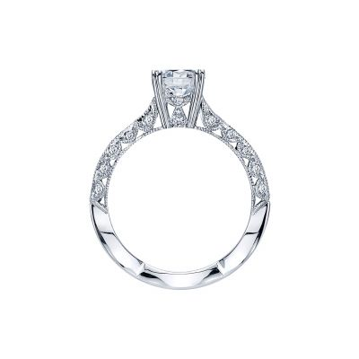 Tacori 2578RD6512-W White Gold Round Engagement Ring side