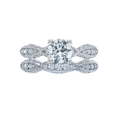 Tacori 2578RD6512-W White Gold Round Infinity Style Engagement Ring set