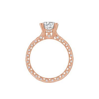 Tacori 2578RD8-PK Rose Gold Round Engagement Ring side