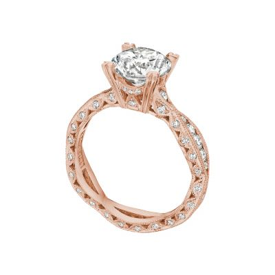 Tacori 2578RD8-PK Rose Gold Round Infinity Engagement Ring angle