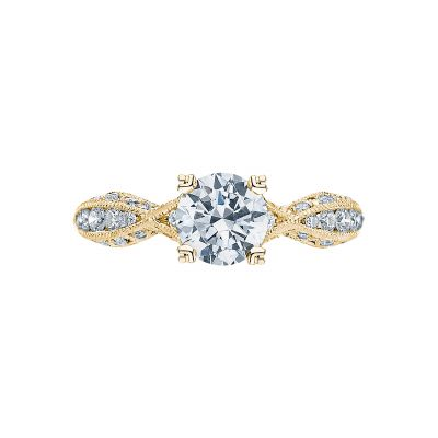 Tacori 2578RD812Y Classic Crescent Yellow Gold Round Engagement Ring
