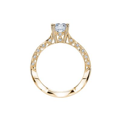 Tacori 2578RD812Y Yellow Gold Round Engagement Ring side