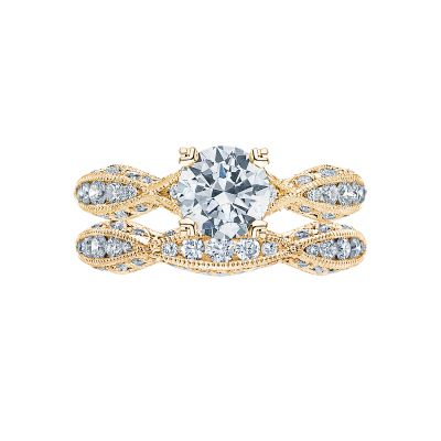 Tacori 2578RD812Y Yellow Gold Round Twist Band Engagement Ring set